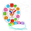 olcso gyerekek Puzzle-Matematikai játékok Fa óra játék Stresszoldó Csirke Óra DIY Oktatás Fa 1 pcs Uniszex Játékok Ajándék