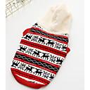 voordelige Hondenkleding & -accessoires-Hond Gilet Hondenkleding Geometrisch Geel Rood Katoen Kostuum Voor Lente & Herfst Winter Casual / Dagelijks
