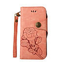 cheap Light Up Toys-Case For LG LG K10 LG K7 Card Holder Wallet with Stand Flip Embossed Full Body Cases Solid Color Flower Hard PU Leather for LG K10 (2017)
