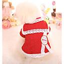 voordelige Hondenkleding & -accessoires-Hond Sweatshirt Hondenkleding Meetkundig Rood Roze Katoen Kostuum Voor Lente & Herfst Winter Casual / Dagelijks