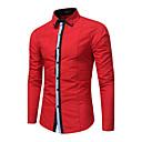 رخيصةأون المكياج & العناية بالأظافر-رجالي النمط الصيني قياس كبير قميص, لون سادة / مخطط / كم طويل