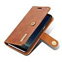 رخيصةأون أغطية أيفون-غطاء من أجل Samsung Galaxy S8 Plus / S8 / S7 edge محفظة / حامل البطاقات / قلب غطاء كامل للجسم لون الصلبة قاسي جلد أصلي