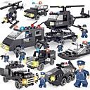hesapli Oto Stickerları-SHIBIAO Legolar 359 pcs Arabalar Polis Basit Yeni Dizayn Kendin-Yap Çağdaş Klasik Klasik & Zamansız Polis Arabası Helikopter Genç Erkek Genç Kız Oyuncaklar Hediye