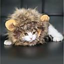 hesapli Pet Noel Kostümleri-Noel Peruk Tatlı Lion Mane Cadılar Bayramı Yapay Tüy Uyumluluk Kedi Oyuncağı