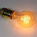 رخيصةأون مصابيح ساطعة-1PC 40W E26/E27 A60(A19) أبيض دافئ 2200-2700 ك مكتب/الأعمال تخفيت ديكور المتوهجة خمر اديسون ضوء لمبة 220V-240V