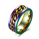 cheap Rings-Men's Band Ring - Stainless Steel Rock, Hip-Hop 7 / 8 / 9 / 10 / 11 Assorted Color For Party Club