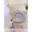 ieftine KIT-uri DIY-Pentru femei Ceasuri de lux Ceas de Mână Diamond Watch Quartz Oțel inoxidabil Argint / Auriu Ceas Casual Analog femei Elegant Bling bling - Auriu Argintiu