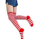ieftine Moda Lolita-Bărbați Sexy lolita Șosete / ciorapi Negru / Alb Negru / Roșu Roșu / alb Dungi Bumbac Lolita Accesorii / Lolita Stil Gotic / Clasic / Traditional Lolita / Înaltă Elasticitate