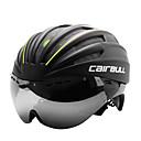 preiswerte Auto Aufkleber-CAIRBULL Erwachsene Fahrradhelm mit Schutzbrille Aero Helm 28 Öffnungen ASTM F 2040 Stoßfest, Belüftung EPS, PC Sport Straßenradfahren - Rot / Grün / Blau