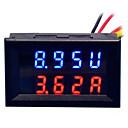 رخيصةأون أجهزة القياس الرقمية & أجهزة قياس الذبذبات-دي العملي المزدوج 0.28 بوصة 3 أرقام الأحمر الأزرق ليد عرض الجهد الحالي متر (دس 0 -100 فولت / 50 a)