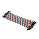 hesapli Konnektörler ve Terminaller-Elektronik DIY 22cm İçin Erkek ve Dişi Girişli Kablolar
