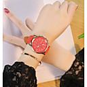 preiswerte Herrenuhren-Herrn / Damen Armbanduhr Chinesisch Armbanduhren für den Alltag PU Band Freizeit Schwarz / Weiß / Rot