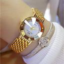 baratos Relógios Masculinos-Mulheres Relógio de Pulso Japanês Quartzo 30 m Aço Inoxidável Banda Analógico Amuleto Prata / Dourada - Dourado Prata