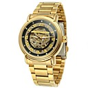 ieftine Ceasuri Damă-WINNER Bărbați Ceas Schelet Ceas de Mână Mecanism automat Oțel inoxidabil Auriu 30 m Gravură scobită Analog Vintage Casual Modă - Auriu