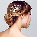 זול תכשיטים לשיער-מסרק שיער סיטרין - אחיד גליטרים / מַתַכתִי בגדי ריקוד נשים / חתונה