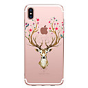 cheap iPhone Cases-Case For Apple iPhone X / iPhone 8 Transparent / Pattern Back Cover Animal / Flower Soft TPU for iPhone XS / iPhone XR / iPhone XS Max