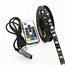 hesapli LED Şerit Işıklar-ZDM® 2m Işık Setleri 120 LED'ler 5050 SMD RGB Uzaktan Kontrol / Su Geçirmez <5 V 1pc / IP65