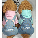 cheap Smart Lights-Dog Jumpsuit Dog Clothes Letter & Number Blue Pink Cotton Costume For Spring &  Fall Winter Men's Women's Casual / Daily
