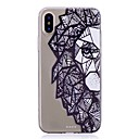 cheap iPhone Cases-Case For Apple iPhone X / iPhone 8 Transparent / Pattern Back Cover Word / Phrase / Cartoon Soft TPU for iPhone X / iPhone 8 Plus / iPhone 8