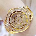 hesapli Kadın Saatleri-Kadın's Bilek Saati Japonca Paslanmaz Çelik Bant Gümüş / Altın Rengi