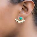 hesapli Küpeler-Kadın's Vidali Küpeler - Basit, Vintage Yeşil / Mavi Uyumluluk Parti / Günlük