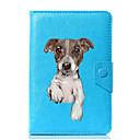 Недорогие Кейсы для планшетов-Кейс для Назначение Чехол планшетный случаи Однотонный С собакой Твердый Кожа PU для