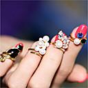 ieftine Inele-Pentru femei Unghiul degetului unghiilor manşetă Ring Imitație de Perle Aliaj Plin de graţie Declarație femei Neobijnuit Design Unic Clasic Inele la Modă Bijuterii Auriu Pentru Serată Măr O Mărime 4