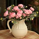 tanie Dekoracyjne naklejki-Sztuczne Kwiaty 1 Gałąź קלאסי / Fason europejski Roses Bukiety na stół