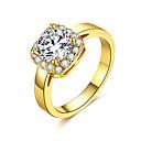 preiswerte Damenuhren-Damen Kristall Cluster Bandring - Zirkon, Aleación Klassisch, Modisch 6 / 7 / 8 Gold / Silber Für Hochzeit Party Geburtstag
