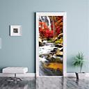 halpa Seinäkoristeet-Maisema Wall Tarrat 3D-seinätarrat Koriste-seinätarrat Ovi-tarrat, Paperi Vinyyli Kodinsisustus Seinätarra Seinä