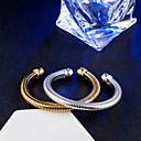 billige Strand Halskæder-Dame Armbånd Manchetarmbånd Uendelighed Vintage Elegant Titanium Armbånd Smykker Guld / Sølv Til Bryllup Forlovelse Daglig Ceremoni Office & Karriere
