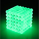 cheap Magnet Toys-64 pcs 5mm Magnet Toy Magnetic Balls Building Blocks Super Strong Rare-Earth Magnets Neodymium Magnet Strand Magnetic Type Stress and Anxiety Relief Glow in the Dark Kid's / Adults' Boys' Girls' Toy