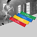 hesapli Nintendo 3DS Aksesuarları-KYLINSPORT Egzersiz Direnç Bantları İle 4 pcs Silgi Kuvvet Antrenmanı, Fizik Tedavi İçin Yoga / Pilates / Fitness Ev / Ofis