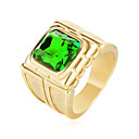 cheap Rings-Men's Cubic Zirconia Statement Ring - Stainless Steel, Zircon Fashion 8 / 9 / 10 / 11 / 12 Red / Green / Blue For Birthday Gift