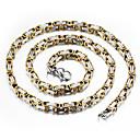 Χαμηλού Κόστους Ανδρικά ρολόγια-Ανδρικά Κολιέ με Αλυσίδα - Επιχρυσωμένο Ροκ, Μοντέρνα, Χιπ-Χοπ Χρυσό, Ασημί Κολιέ Κοσμήματα Για Καθημερινά, Δρόμος