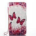 preiswerte Fitnessbänder-Hülle Für Xiaomi Redmi Note 5A Redmi Note 4X Kreditkartenfächer Geldbeutel mit Halterung Ganzkörper-Gehäuse Schmetterling Hart PU-Leder
