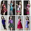 preiswerte Barbie Kleidung-Prinzessin Kostüme Für Barbie-Puppe Polyester Kleid Für Mädchen Puppe Spielzeug