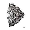 저렴한 커프링크-문신 스티커 임시 문신 애니멀 시리즈 팔 / 어깨 1 pcs 일상