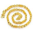 preiswerte Halsketten-Herrn Ketten - vergoldet Rockig, Modisch, Hip-Hop Gold Modische Halsketten Für Alltag, Strasse