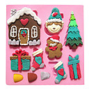 hesapli Ev Dekore Etme-Bakeware araçları Silikon Çevre-dostu Kek / Kurabiye / Çikolota Pasta Kalıpları 1pc