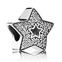 preiswerte Schmuck selber machen-DIY Schmuck 1 Stück Glasperlen Diamantimitate Aleación Silber Stern Korn 0.5 cm DIY Modische Halsketten Armbänder