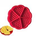 preiswerte Halsketten-Herz-Blumenwaffelhersteller-Silikonkuchenformmuffin des Hohlraums 5, der Werkzeuge kocht