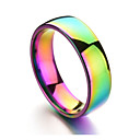 cheap Rings-Men's Band Ring - Stainless Rainbow Colorful 6 / 7 / 8 / 9 / 10 Champagne For Daily Formal