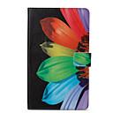 Недорогие Чехлы и кейсы для Samsung Tab-Кейс для Назначение SSamsung Galaxy Tab A 8.0 (2017) Кошелек / со стендом / Флип Чехол Цветы Твердый Кожа PU для Tab A 8.0 (2017)