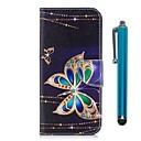 abordables Protections Ecran pour iPhone 8 Plus-Coque Pour Huawei Honor 7X Portefeuille / Porte Carte / Avec Support Coque Intégrale Papillon Dur faux cuir pour Honor 7X / Honor 6X