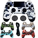 voordelige PS4-accessoires-draadloze bluetooth gamecontroller case protector / game controller voor ps4, gaming handvat game controller case protector / game controller siliconen / abs 1 stks eenheid