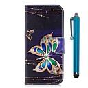 رخيصةأون حافظات / جرابات هواتف جالكسي J-غطاء من أجل Samsung Galaxy J7 (2017) / J5 (2017) / J5 (2016) محفظة / حامل البطاقات / مع حامل غطاء كامل للجسم فراشة قاسي جلد PU