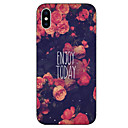 cheap iPhone Cases-Case For Apple iPhone X iPhone 8 Pattern Back Cover Word / Phrase Flower Soft TPU for iPhone X iPhone 8 Plus iPhone 8 iPhone 7 Plus