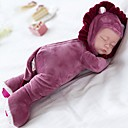 hesapli Kuklalar-Peluş bebek Bebek 14 inç Silikon Vinil - şan Çocuk Kilidi Non Toxic Uyku Ninni oyna 3 Şarkı Seçimi ile Kid Genç Kız Oyuncaklar Hediye / Disket kafa / Doğal cilt tonu