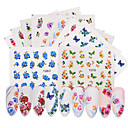 cheap Makeup & Nail Care-50 pcs Full Nail Stickers Water Transfer Sticker Flower / Butterfly nail art Manicure Pedicure Eco-friendly Classic Daily